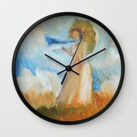 monet Wall Clocks featuring Monet Lady by KitaKita