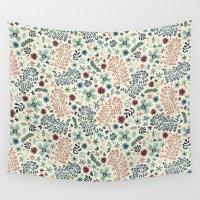 flora Wall Tapestries featuring Flora by Anna Deegan