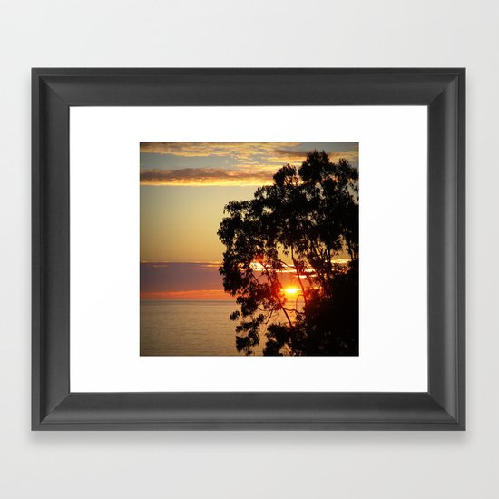 beautiful ending  Framed Art Print