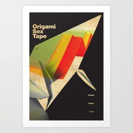 Origami Sex Tape Art Print