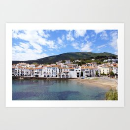 Old village of Cadaques Spain Art Print