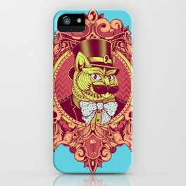 Hipster Mustache Cat iPhone Case