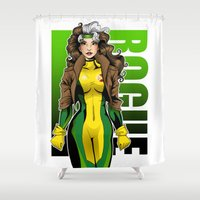rogue Shower Curtains featuring Rogue by Genevieve Kay