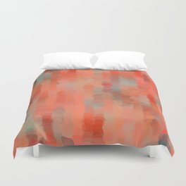 Coral Mirage Duvet Cover