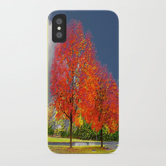 color my trees iPhone Case