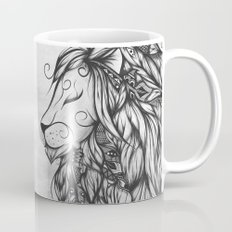 Poetic Lion B&W Mug