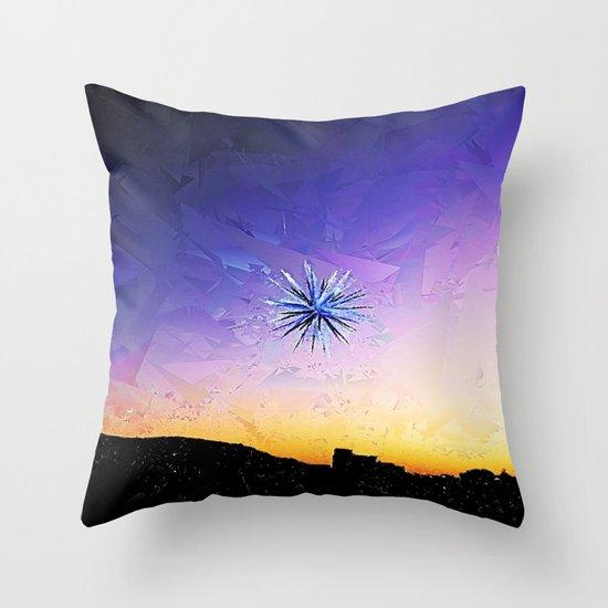 Star Over Bethlehem Abstract Throw Pillow