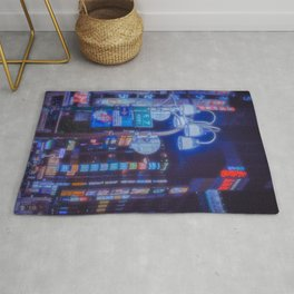 Tokyo night: A futuristic city, a beautiful dream Rug