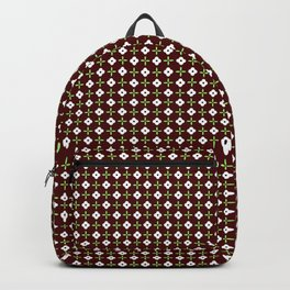 Ice Flower_Bordeaux Backpack