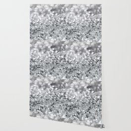Silver Gray Lady Glitter #1 #shiny #decor #art #society6 Wallpaper