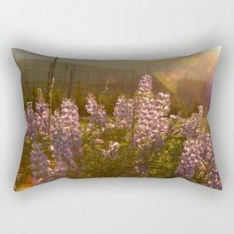sunset lupin Rectangular Pillow