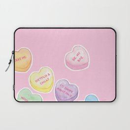 Valentine's Day Candy Hearts Laptop Sleeve
