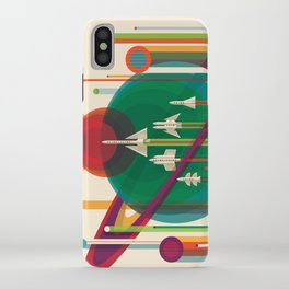 NASA Retro Space Travel Poster #5 iPhone Case