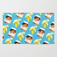 nutella Area & Throw Rugs featuring Because you and me are meant to be by popsicledonut