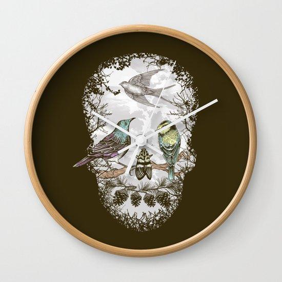 Nature's Skull II Wall Clock