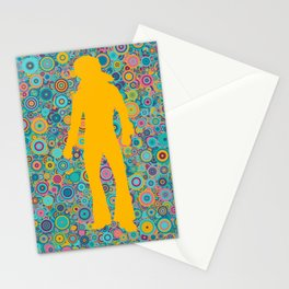 Psychedelic funky Seventies disco party Stationery Cards