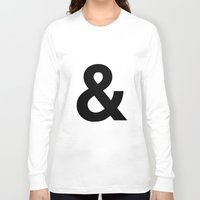 helvetica Long Sleeve T-shirts featuring HELVETICA & letter by Design Art Helvetica and Abstract Art, m