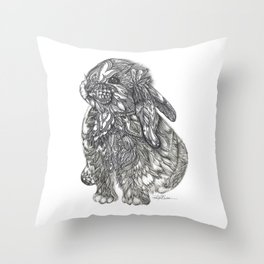 Sweet Bunny Throw Pillow