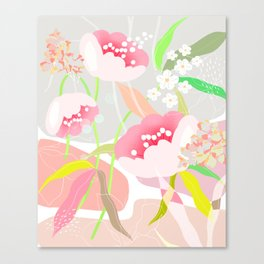 rapture: abstract floral. Canvas Print