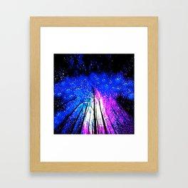 Stars and Trees Framed Art Print