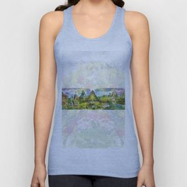The Forest and The Lake (ambient colour frame) Unisex Tank Top