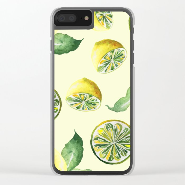 Watercolor lemons #society6 Clear iPhone Case