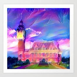 Les Bourgeois de Calais Town Hall Falling Sky Art Print