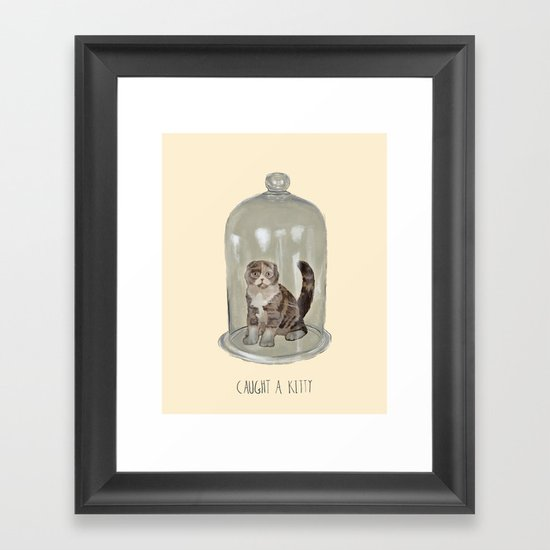 Caught a Kitty Framed Art Print