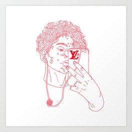 Teenage Tearaway Art Print