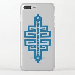 Blue Inca Clear iPhone Case