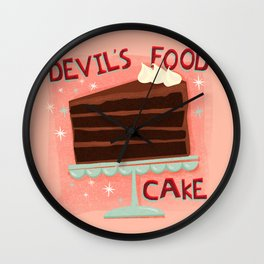 Devil's Food Cake An All American Classic Dessert Wall Clock