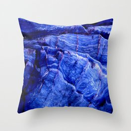 BLUE STONE TEXTURES Throw Pillow