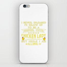 Super cute Chicken lady iPhone Skin