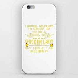 Super cute Chicken lady iPhone Skin