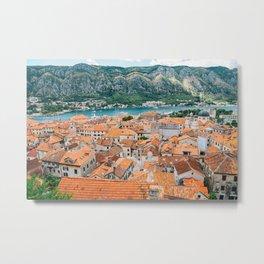 Kotor old town Metal Print
