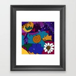 """""""Before the Celebration"""" bold, colorful doodle art Framed Art Print"""