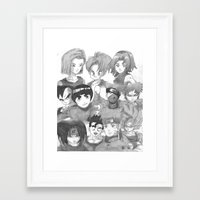 dragonball z Framed Art Prints featuring Dragonball Z & Naruto Creation by Hitmakerzpro