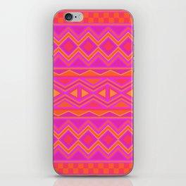 Tribal Pattern (Pink & Orange) iPhone Skin