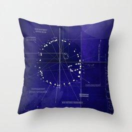 Druids Circle, Castlerigg, Keswick, Cumbria blueprint Throw Pillow