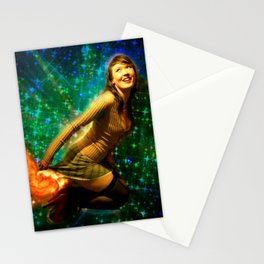 Galaxy Toot Girl | Sexy Pin Up Humor Stationery Cards
