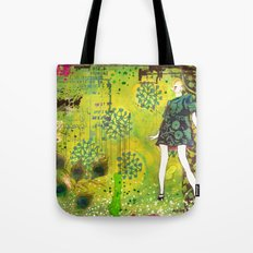 girl in green Tote Bag