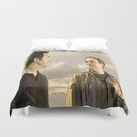 stargate Duvet Covers featuring Goodbye Carson by Samy
