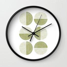 Labyrinth - Moss Wall Clock