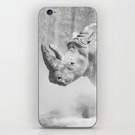 Rhino Photography | Animal |  Landscape | Abstract | Niagara Falls | Nature | Black and White iPhone Skin