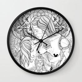 Cyborg love in Nirvana Wall Clock