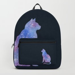 Purple Space Cat Backpack