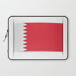 Flag of Bahrain. The slit in the paper with shadows. Laptop Sleeve