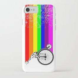 Giraffe riding a bike lgbq iPhone Case