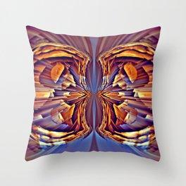 Sequential Baseline Mandala 12q Throw Pillow