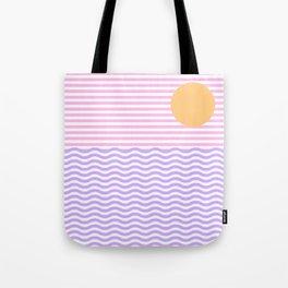 Coastline (Sunset Pink) Tote Bag